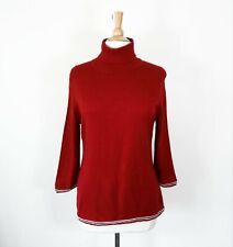 TOMMY HILFIGER // Size L // NEW Red 3/4 Sleeve Turtleneck Sweater
