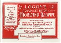 Logan's Complete Tutor Highland Bagpipe Method Songbook Music Book Learn To Play