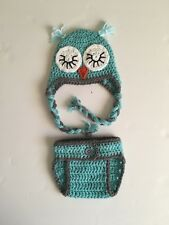 Crochet Newborn sleeping Owl Outfit, Handmade Baby Photo Prop, owl photography