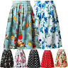 19 Patterns Housewife Vintage 50s 60s Floral Skirt Swing Pinup Retro Party Dress