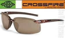 Crossfire ES5 Brown Mirror High Definition Lens Safety Glasses Sunglasses Z87.1