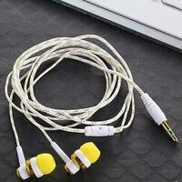 5 Farben Nylon Weave Kabel In-Ear Stereo Kopfhörer mit Mikrofon für Smartph B9H1
