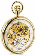 Charles Hubert IP-plated Full Skeleton Dial Pocket Watch