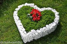 Herz 42x42x10cm Körbe Pflanzenschale Grabschmuck Grabgestaltung  Blumentöpfe