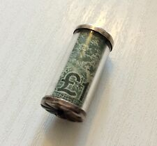 Nice Old Vintage Solid Silver Genuine £1 Pound Note Emergency Charm