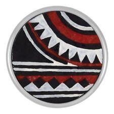 "Buy 4 Get 5Th $6.95 Snap Free Ginger Snapsâ""¢ Painted Design - Red/Black Sn09-51"