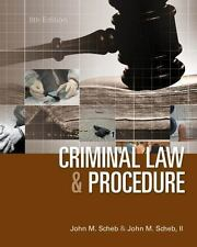 Criminal Law and Procedure, Hardcover by Scheb, John M., II, Ph.D.