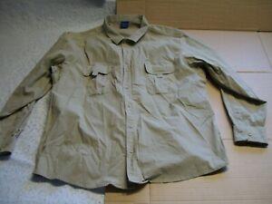 Propper Mens XXL Tan Vent Back LS Button Front Shirt