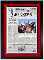 Carlos Sainz Saudi Arabia Dakar Rally 2020 Car Champion!!! Framed Newspaper New!