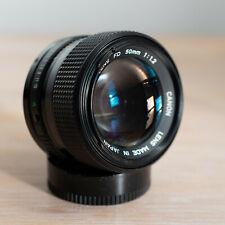 Canon New FD 50mm F1.2 MF Fast Standard Prime Legacy Vintage Lens Mint UK