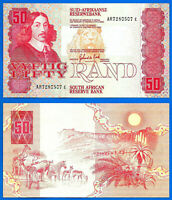 South Africa 50 Rand 1984 Sign de Kock Prefix AR Animal Free Shipping World