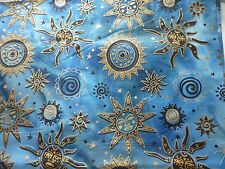 SUN MOON STARS Tessuto Fat Quarter Cotton Craft Quilting Batik