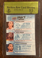 2009-10 upper deck draft edition Steph Curry James Harden Rookie 17/99 BGS 9.5