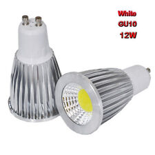 2PCS 12W GU10 85-265V COB Spot down light LED lamp bulb bright White