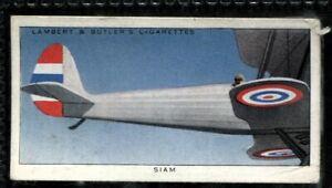 Lambert Butler, AEROPLANE MARKINGS, 1937, Siam Royal Aeronautical Service, #39