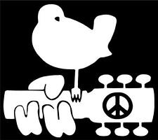 "Peace Guitar Woodstock Hippie Car Vinyl Decal Laptop Sticker Graphic 5""X4.4"""