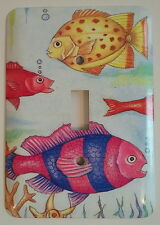 Tropical Fish Beach Ocean Nautical Enamel Single Toggle Switch Plate Cover