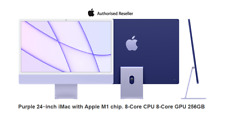 """CTO Apple iMac 24"""" M1 256gb SSD 8-core CPU & GPU Purple - Z1300003K Read Descrp"""