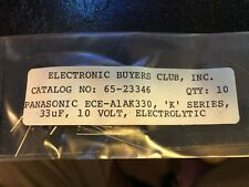 33 Uf 10volt Capacitors