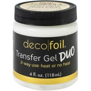 Deco Foil Transfer Gel DUO 4Fl Oz (118ml) 2 way use, heat or no heat