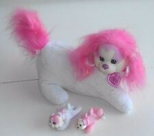 """2014 Puppy Surprise by Just Play ~ PINK & WHITE DOG ~ 12"""" Plush Toy - (WX01)"""