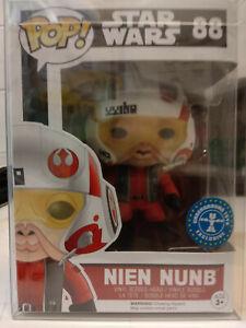 Funko Pop Star Wars#88 - Nien Nunb Underground Toys Exc Mint with Pop Protector.