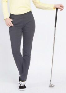 NWT Slimsation Charcoal Ladies Size 10 Ankle Golf Pants New G37720P Pull On