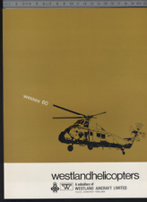 (192) Brochure hélicoptère Aircraft Helicopter Westland Wessex 60