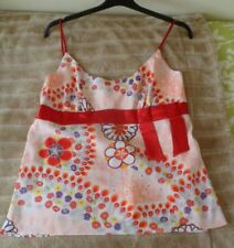 BUTTERFLY MATTHEW WILLIAMSON FLORAL DRESSY SUMMER STRAPPY CAMI  TOP UK 16