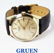 Vintage 14k GRUEN PRECISION 23J Mens Automatic Watch 1950s* EXLNT* SERVICED
