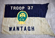 c.1920's GIRL SCOUT TROOP FLAG - VERY SCARCE - A TRUE MUSEUM PIECE