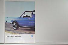 VW Volkswagen Golf 1 Cabriolet Cabrio Prospekt 01/1986