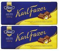 Fazer Noisette Complète Chocolat Au Lait Barre 2 x 200 g
