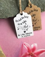 Personalised We Tied the Knot Take a Shot  Wedding Favour Tags  Thank You 20513