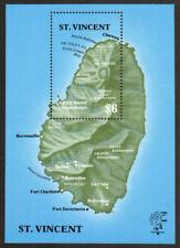Saint Vincent Stamp - Map of St. Vincent Stamp - NH