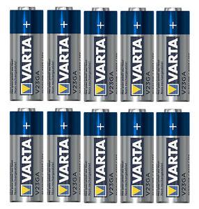 10x Varta Batterien V23GA   P23GA   A23   23A   LR23   LRV08   12V