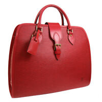 LOUIS VUITTON RIVOLI 2WAY BUSINESS HAND BAG RED EPI LEATHER SP ORDER S08803a