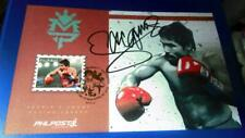 2015 PHILIPPINE Manny Pacquiao Pacman   1 VALUE STAMP on Maxi Card signed
