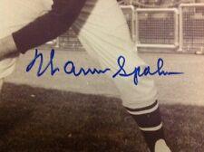 Warren Spahn Milwaukee Braves  Auotographed Photo Baseball Hall Of Fame