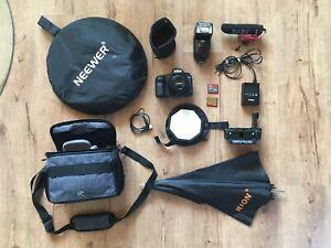 Canon EOS 5D Mark II 21.1MP Digital Camera w/ accessories