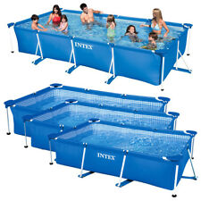 INTEX Family Swimming Pool Frame Rechteck Schwimmbecken Planschbecken