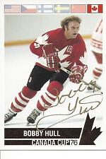 1976 Canada Cup Bobby Hull Factory Gold Foil Autograph  Card #142