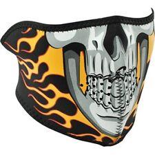 Flame Skull Neoprene Half Face Mask Motorcycle Biker Ski Costume Free Shipping