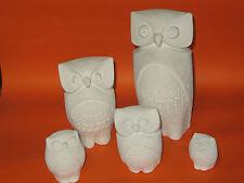 Eule Serie 5 Stück Mar bell, Made by Stone Art Belgium, owl