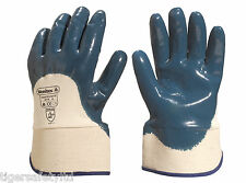 12 Pairs Delta Plus Venitex NI170 Blue Nitrile Work Gloves Size 10 X-Large PPE