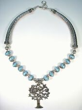 TREE OF LIFE TURQUOISE NECKLACE - 925 STERLING SILVER
