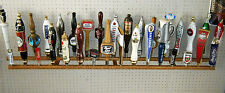 Lot of beer taps? 33 BEER TAP HANDLE DISPLAY WALL MOUNT NEAR FIVE FEET LONG