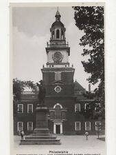 Independence Hall & Commodore Barry Monument Philadelphia RP Postcard  212a