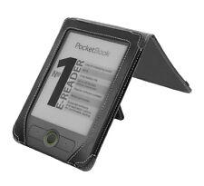 PocketBook Basic 611 eReader Black Nappa Leather Flip Stand Cover Case