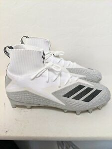 Adidas Freak Ultra PrimeKnit White/Silver Football Cleats Size 10-10.5 B27976
